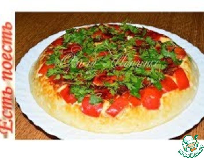 Рецепт: Куриная запеканка-суфле с болгарским перцем