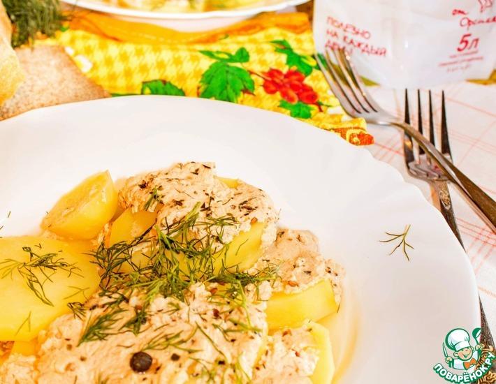 Рецепт: Картофель на пару с ряженкой