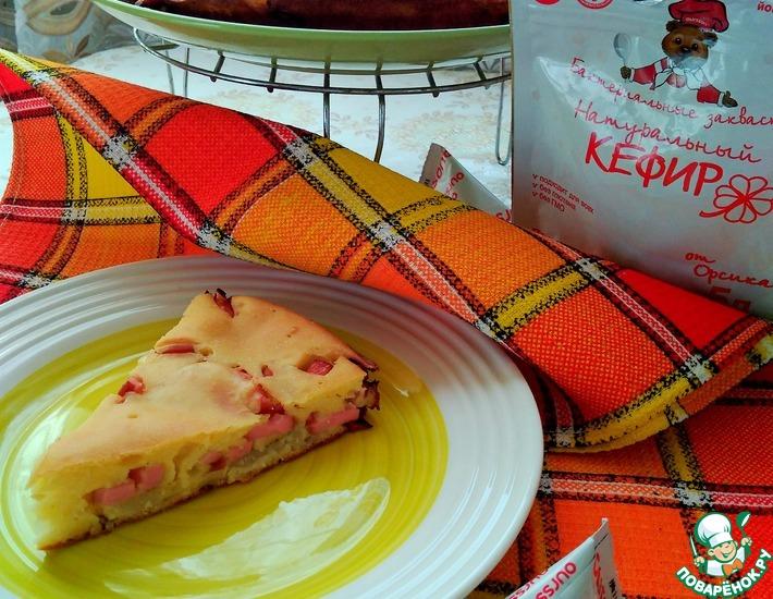Рецепт: Пирог с картофелем и сосисками