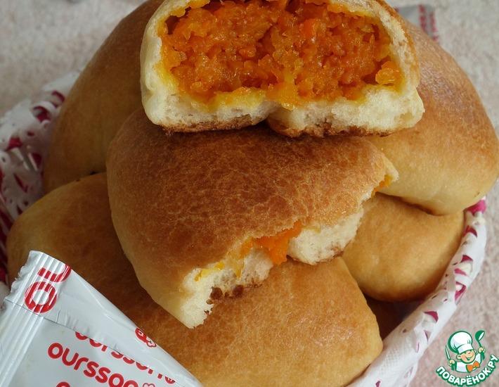Рецепт: Пирожки с морковью Осенние