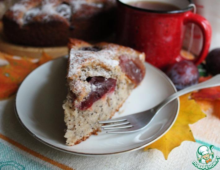 Рецепт: Маковый пирог со сливой