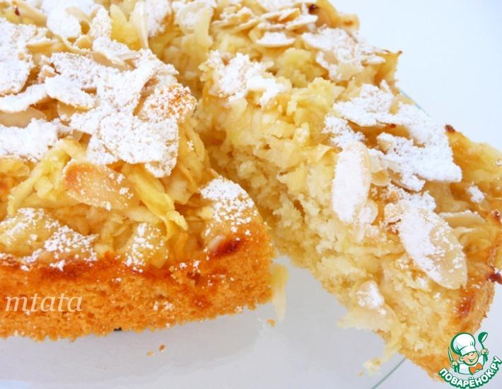 Рецепт: Легкий яблочный пирог