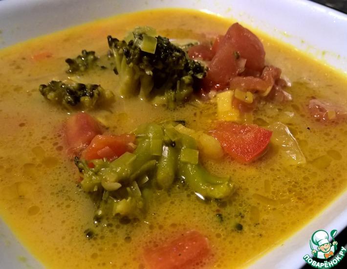 Рецепт: Сливочно-овощной суп карри