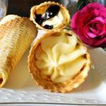 Вафельные рожки с кремом Пломбир
