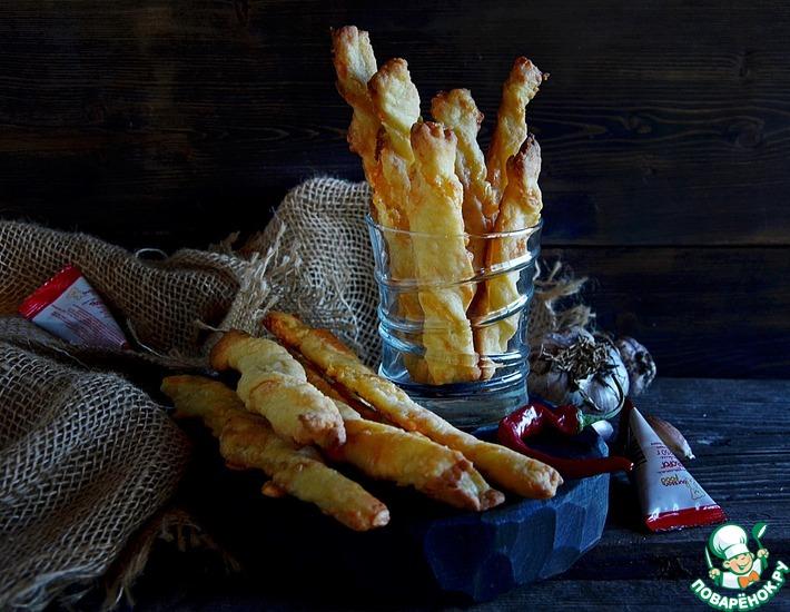 Рецепт: Сырные палочки