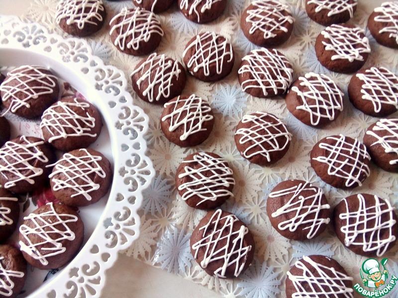 Шоколадное печенье на кефире