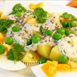 Картофельный салат с йогуртовым соусом