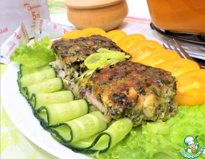 Рецепт: Рыба, запеченная под сырно-йогуртовой корочкой