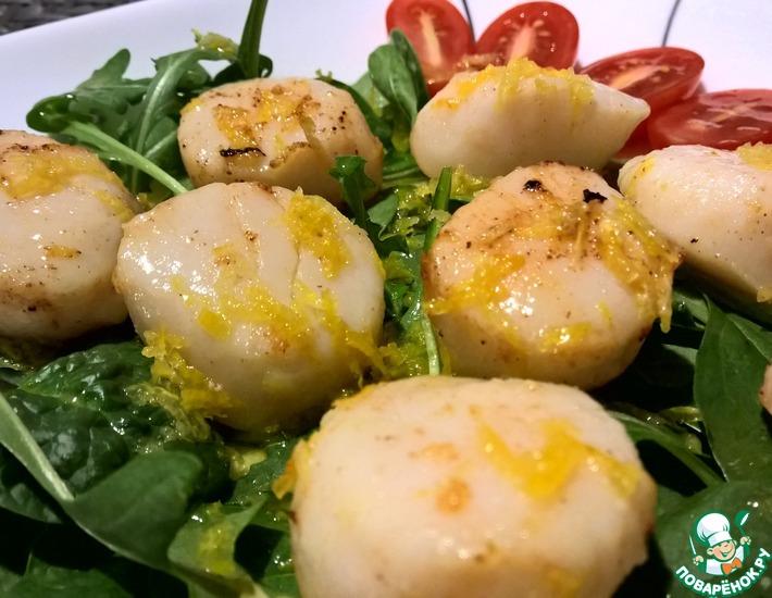 Рецепт: Морские гребешки в медово-лимонном соусе