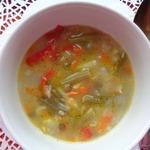 Суп из зеленой фасоли с бобовыми