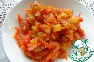 Рецепт: Овощное рагу с кабачком