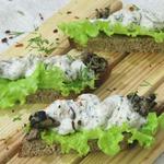 Сырно-творожная намазка с грибами