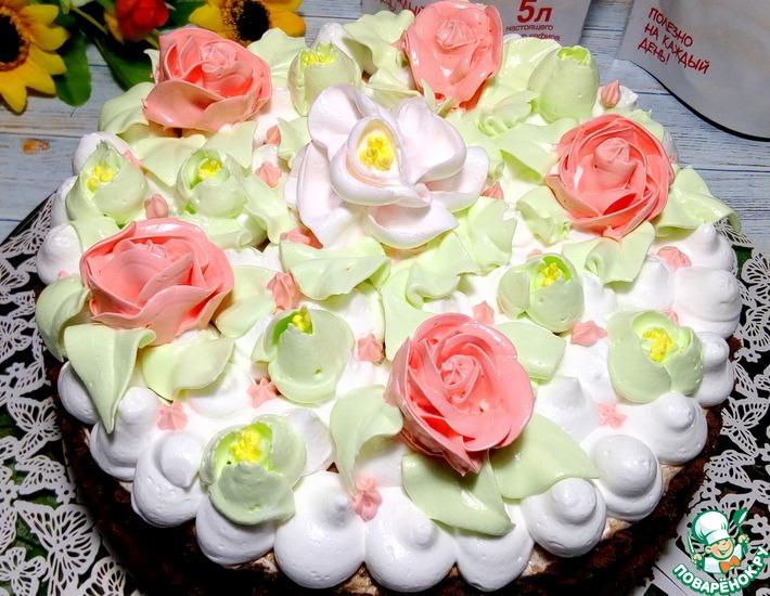 Рецепт: Торт с йогуртовым муссом