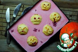 Рецепт: Печёные яблочные головы в клюквенной ряженке