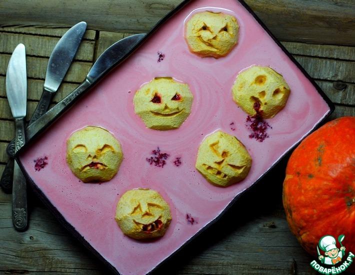 Печёные головы в клюквенной ряженке на Хеллоуин