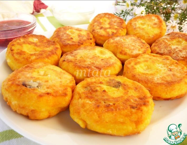 Рецепт: Творожные сырники с тыквой