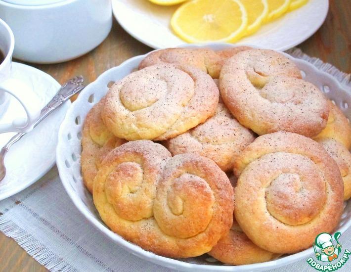 Рецепт: Печенье творожно-лимонное