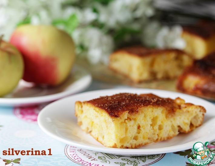 Рецепт: Яблочный пирог с коричной корочкой