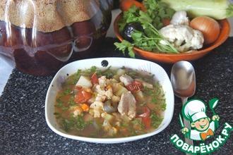 Рецепт: Осенний суп Горшочек, вари!