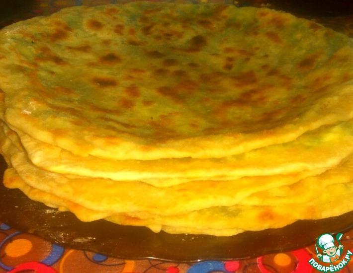 Рецепт: Заварные лепешки с сыром и зеленью