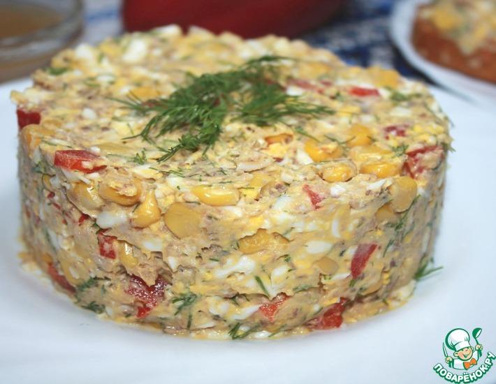 Рецепт: Салат из консервов