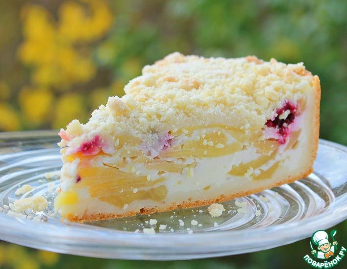 Рецепт: Яблочный пирог Нежность