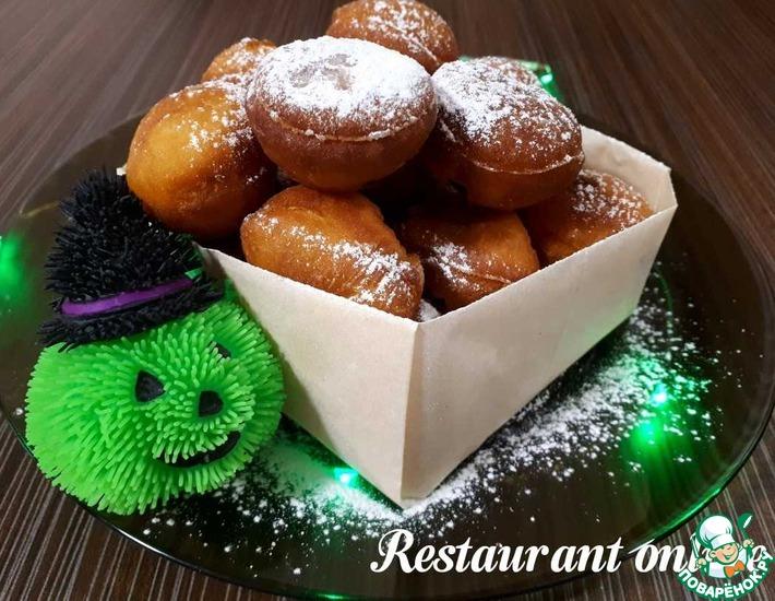 Круглые пончики с рикоттой