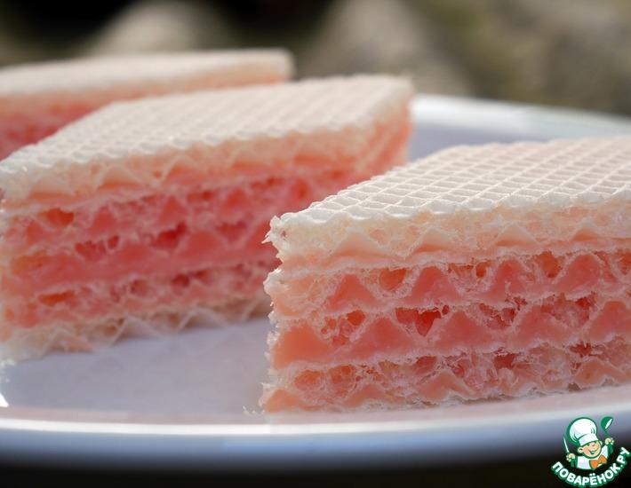 Вафельный торт с необычным кремом