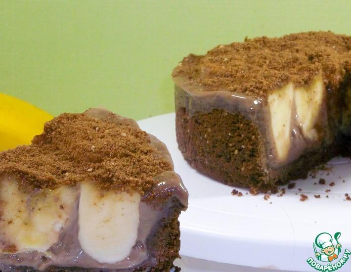 Рецепт: Бананово-шоколадный торт без духовки