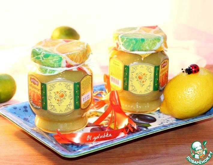 Рецепт: Лимонно-кабачковый джем с имбирем