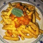 Паста с тыквой, колбасками и рикоттой