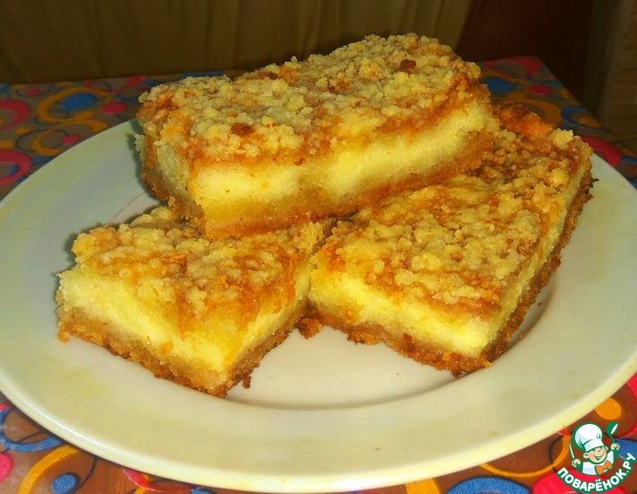 Рецепт: Творожно-яблочный пирог