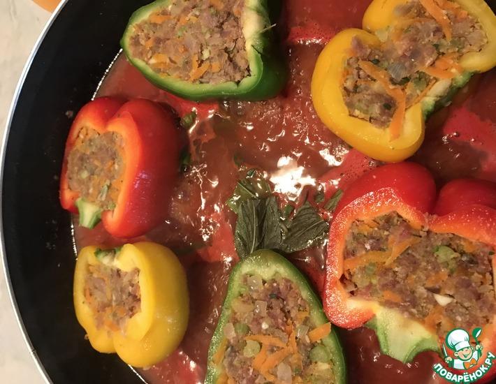 Рецепт: Фаршированные перцы по-средиземноморски