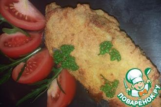 Рецепт: Жареная зубатка в кукурузной панировке