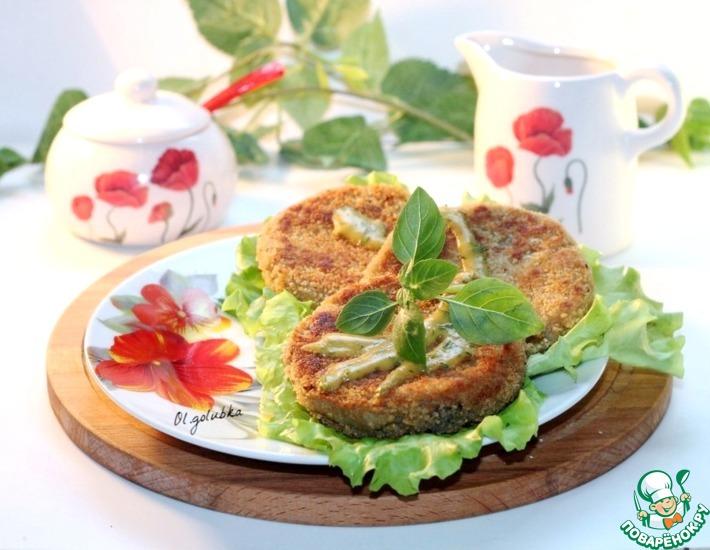 Рецепт: Котлеты из баклажанов с острым соусом