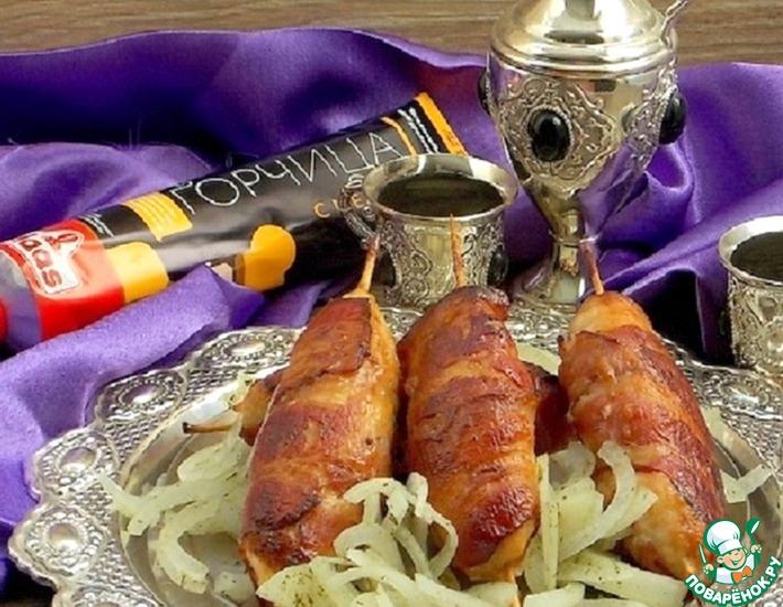 Рецепт: Куриные кебабы в горчичной глазури