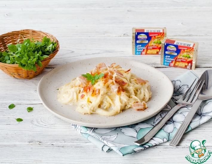 Рецепт: Сырные спагетти карбонара
