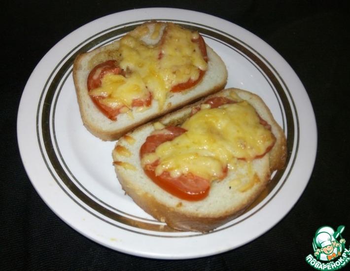 Рецепт: Тартинки с помидорами и сыром