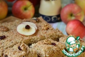 Рецепт: Яблочно-ореховый пирог