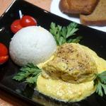 Куриные грудки в сметанно-апельсиновом соусе