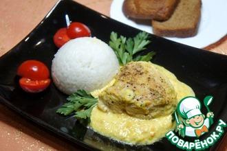 Рецепт: Куриные грудки в сметанно-апельсиновом соусе