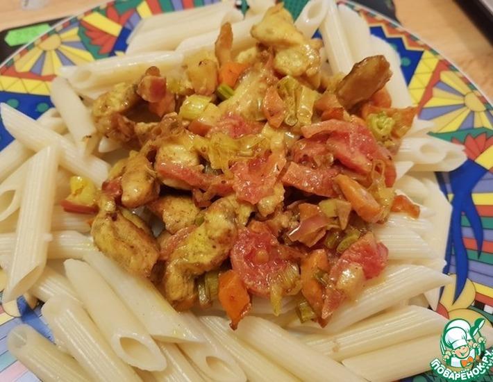 Макароны с соусом из пальмового масла