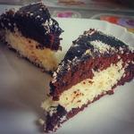 Шоколадно-кокосовый торт за 30 минут, пошаговый рецепт с фото