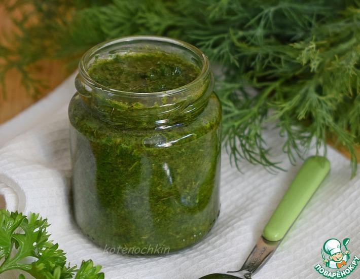 Рецепт: Зелень в масле