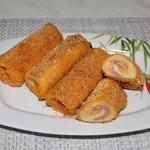 Рулетики из хлеба для тостов
