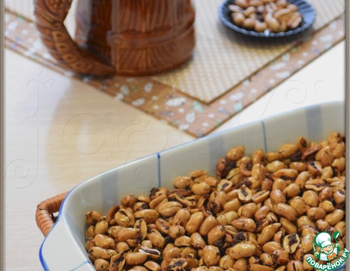 Рецепт: Арахис со специями и чесноком
