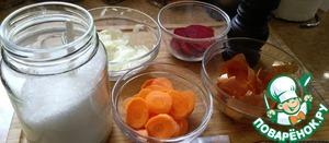 Готовим овощи для соуса