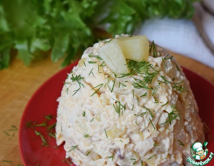Рецепт: Салат с ананасом и картофелем