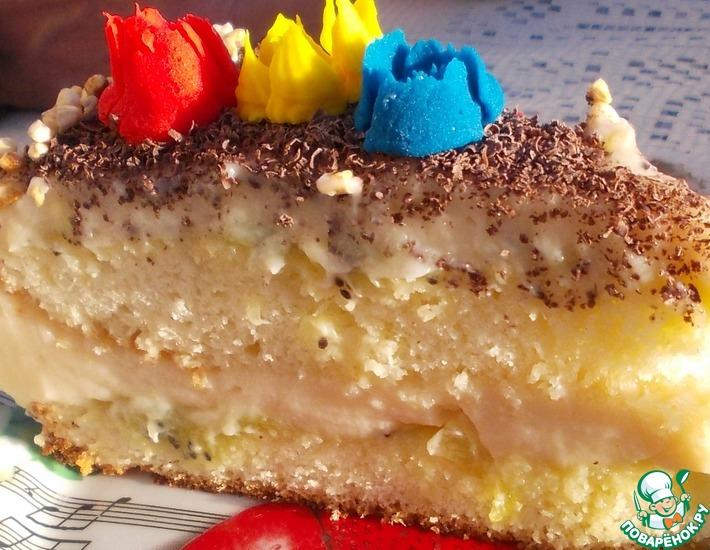 Рецепт: Торт Зефирный шарлатан