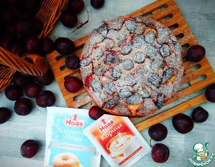 Рецепт: Кекс из поленты со сливами